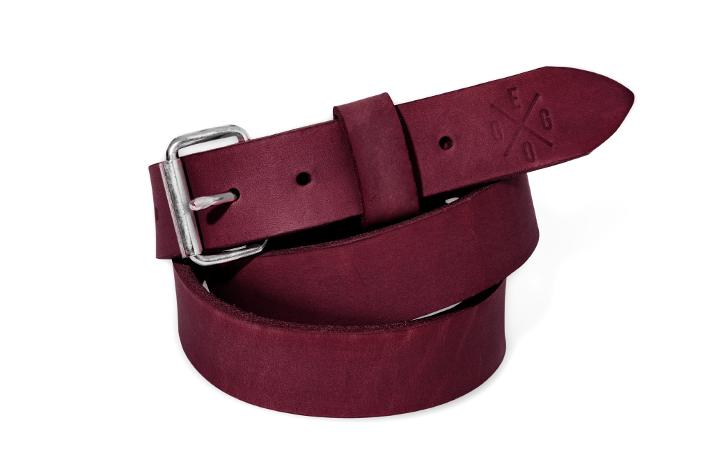Thin leather Belt Murdock M - violet