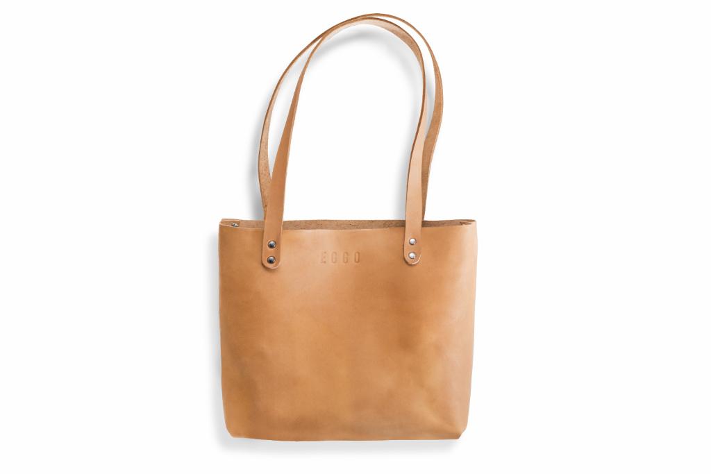 Kožená kabelka Mead - béžová