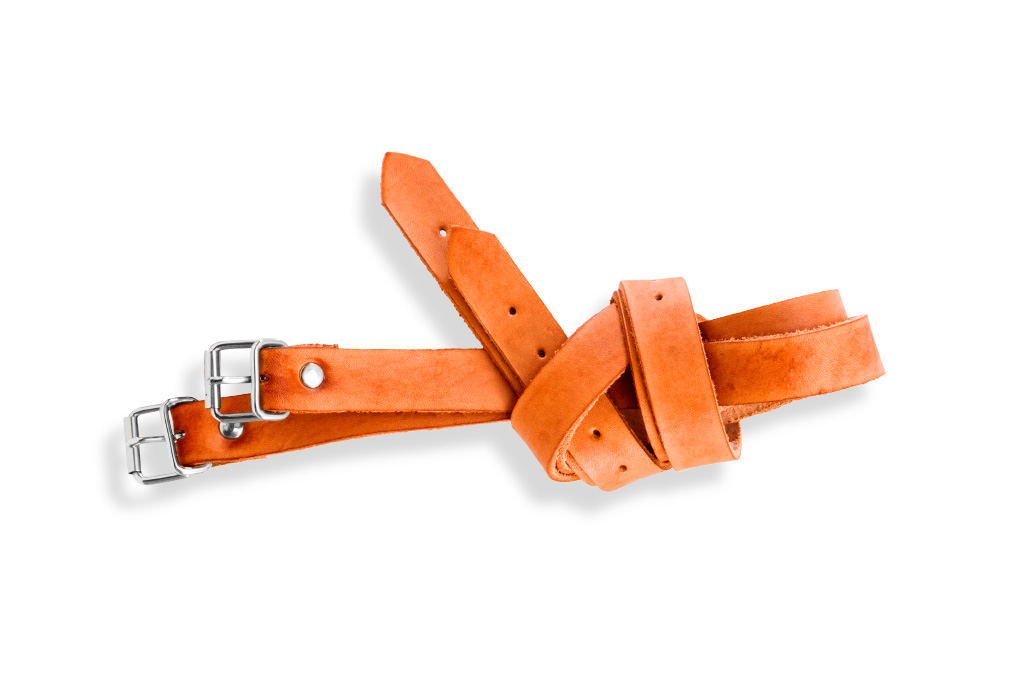 Alternative leather straps for Frazer bag - orange