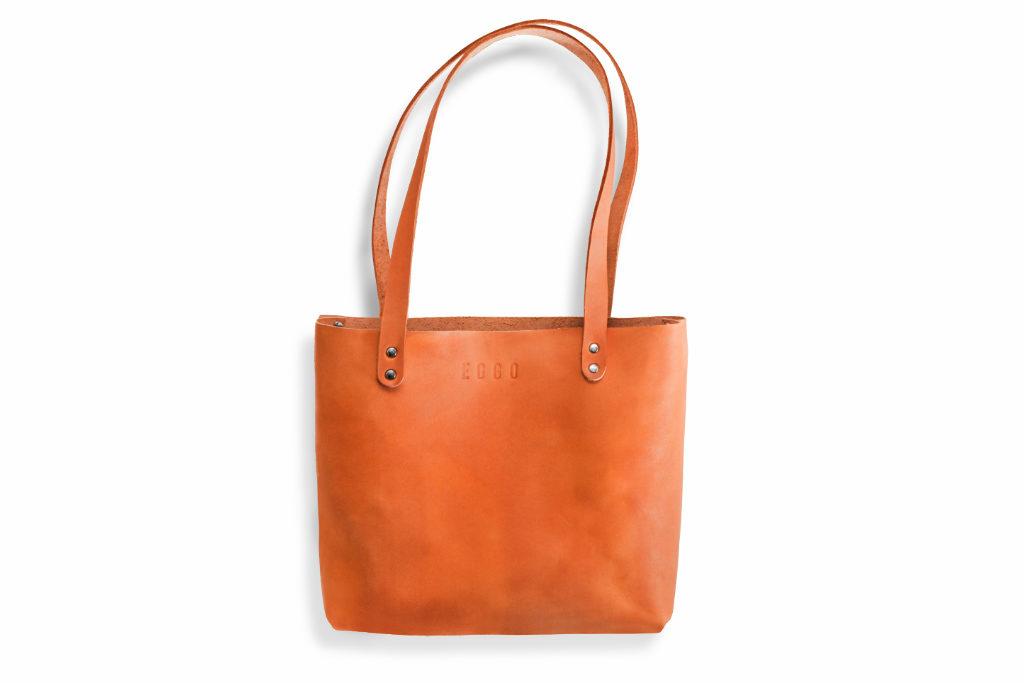 Kožená kabelka Mead - oranžová