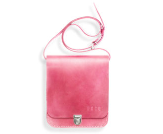 Small leather bag Sapir - pink