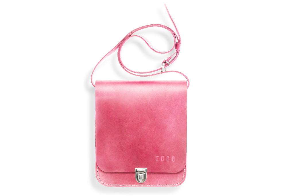 Small leather bag Sapir - pink