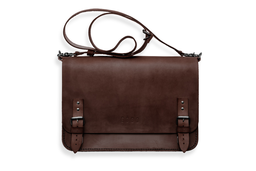 Big leather bag Benedict Large - dark brown