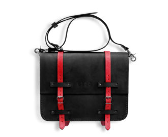 Leather briefcase Frazer - black
