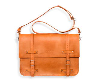 Big leather bag Frazer large - orange