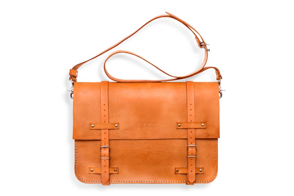 Big leather bag Frazer large - orange