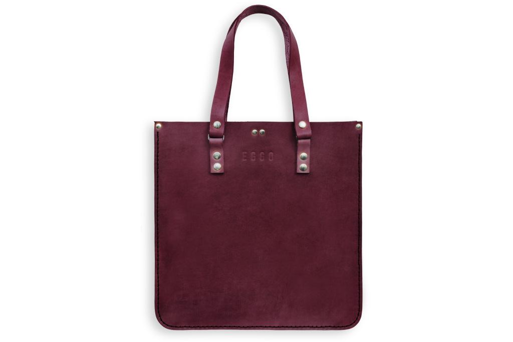 Women's leather handbag - violet