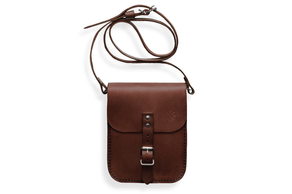Malá kožená taška Gellner - tmavě hnědá