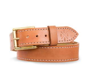 Kožený pásek Spencer - béžová