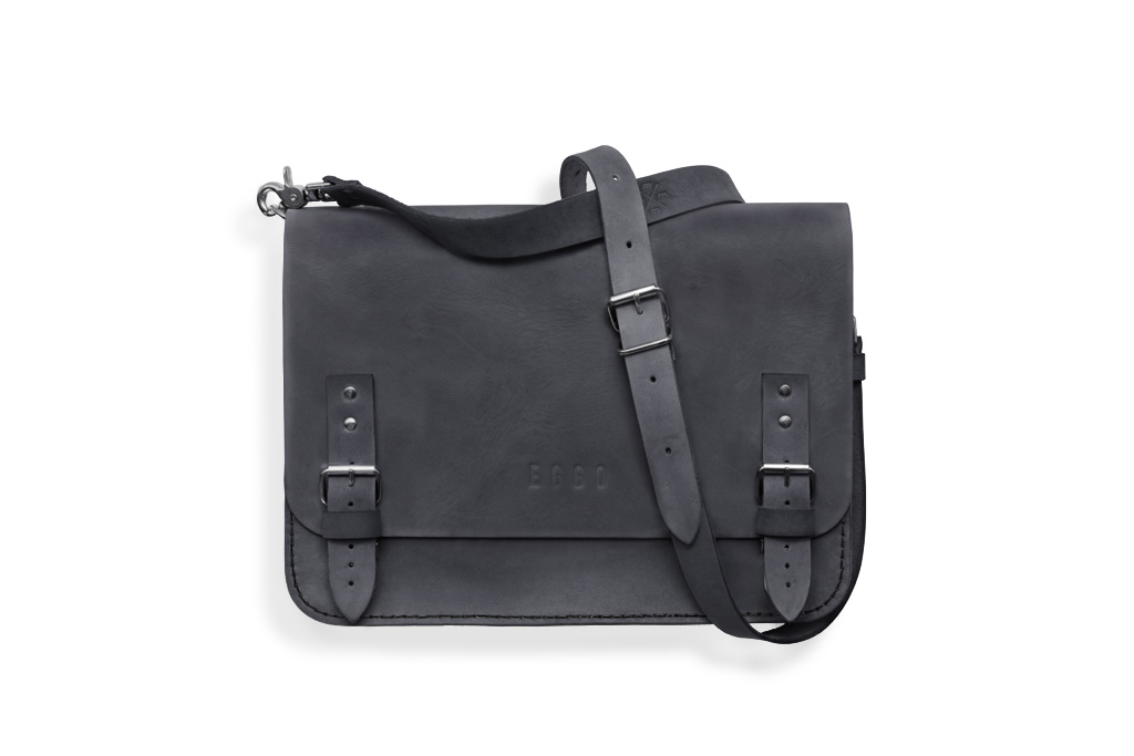 Leather bag Benedict medium - gray