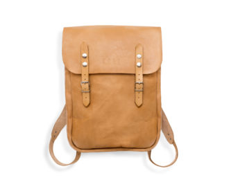 Leather backpack Geertz - ochre