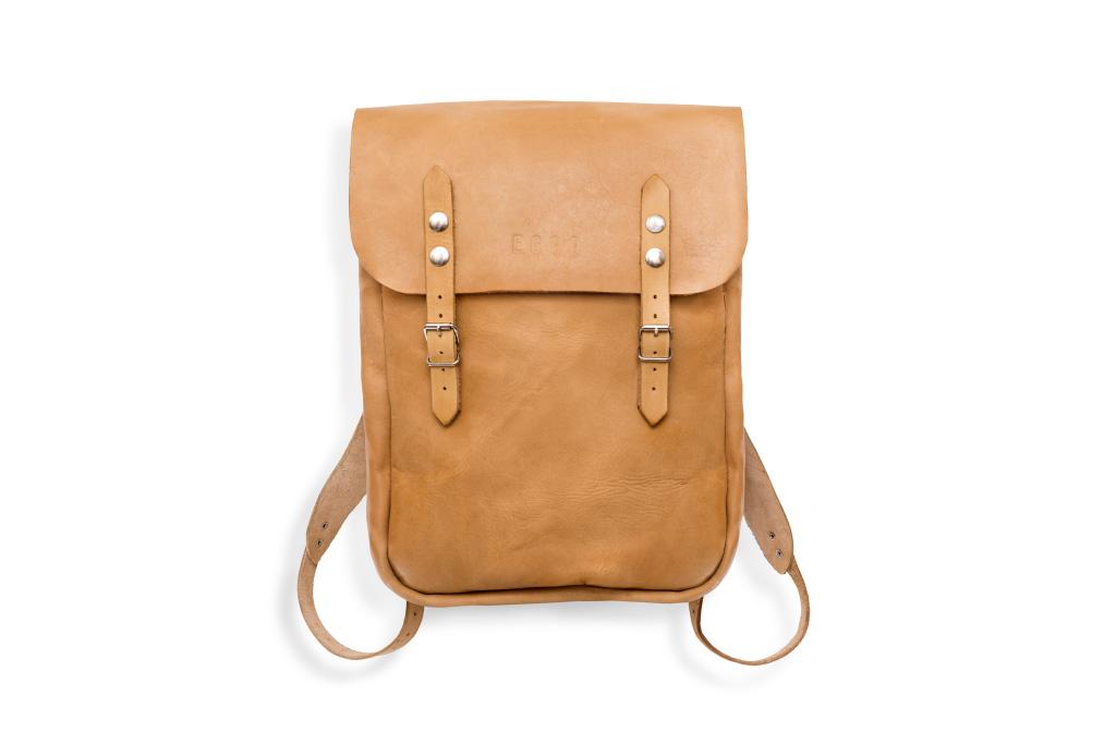 Leather backpack Geertz - ochre