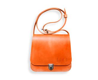 Dámská kožená kabelka Deloria - oranžová