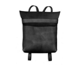 Kožený batoh Barth černá barva