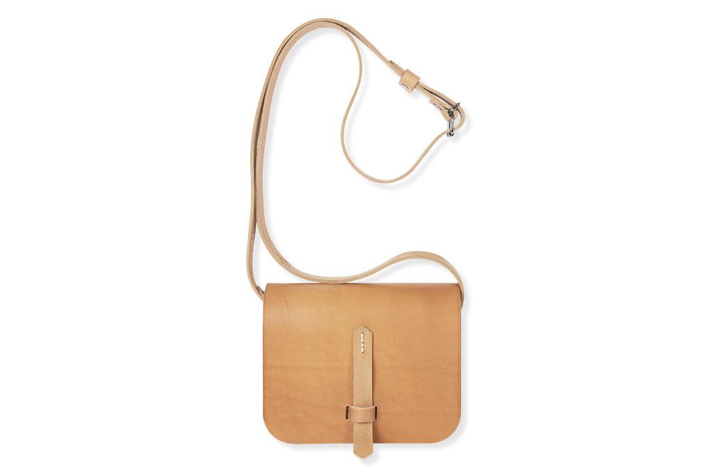 Kožená taška Broca - béžová